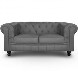 Paris Prix Canapé 2 Places Chesterfield 157cm Gris