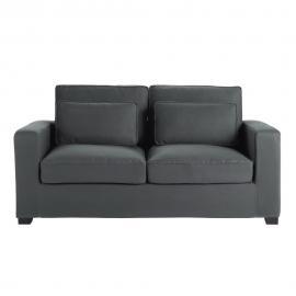 Canapé 3 places en coton gris ardoise Milano