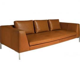 Montino Canapé 3 places en cuir aniline Vintage Leather old chestnut