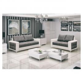CHLOE DESIGN Canapé 3+2 design LUCY - Gris et blanc