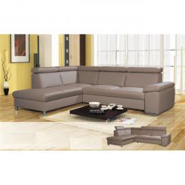 CHLOE DESIGN Canapé d'angle maverick - tétiéres relevables - Angle gauche - marron