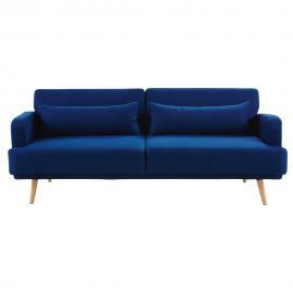 Canapé-lit 3 places bleu roi Elvis