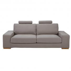 Canapé-lit avec têtières 3 places taupe Daytona