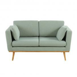 Canapé vintage 2 places vert de gris Timeo