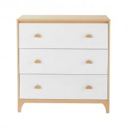 Commode 3 tiroirs blanche Moonlight