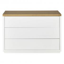 Commode blanche 3 tiroirs Austral