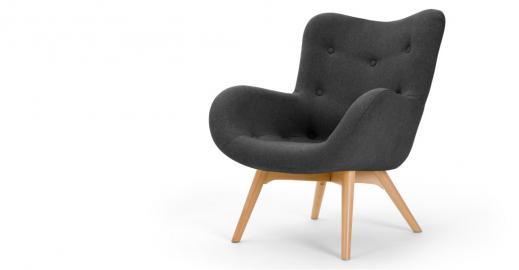 Doris, fauteuil d'appoint, gris shetland