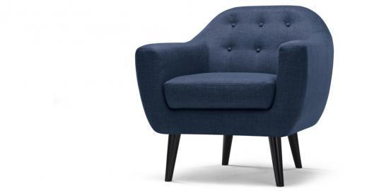 Ritchie, fauteuil, bleu cobalt