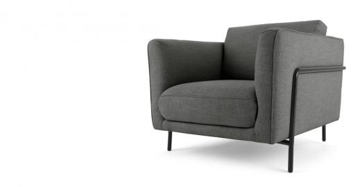 Everson, fauteuil, gris anthracite