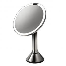 Miroir inclinable en inox brossé avec éclairage LED automatique D23xH39cm