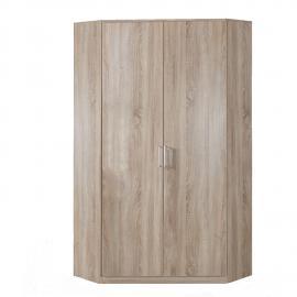 Armoire d'angle Omega - Imitation chêne brut de sciage, Wimex