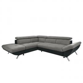Canapé d'angle Olivet - Tissu - Convertible - Courte à gauche (vue de face), Fredriks