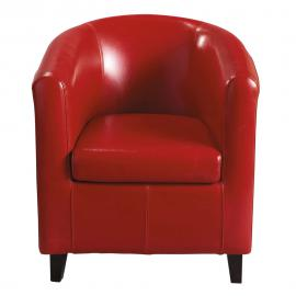 Fauteuil club rouge Nantucket