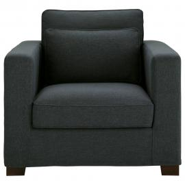 Fauteuil gris anthracite Milano