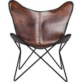 Karedesign Fauteuil Papillon Butterfly marron eco Kare Design