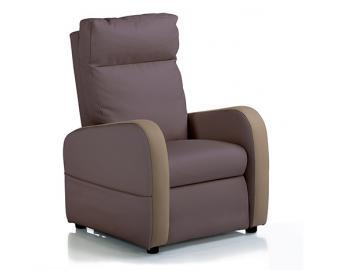 Fauteuil relaxation 2 moteurs cuir bicolore FIDJI, Alimentation fauteuil: Filaire, C