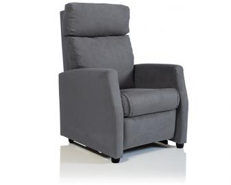 Fauteuil relaxation CARACAS manuel, Revetement fauteuil: Tissu Velours, Coloris faut