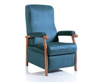 Fauteuil relaxation CUBA manuel, Revetement fauteuil: Tissu Velours, Coloris fauteui