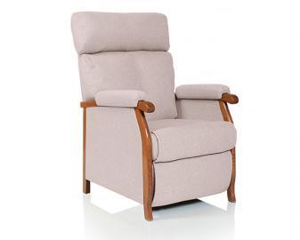 Fauteuil relaxation manuel PANAMA, Revetement fauteuil: Tissu Velours, Coloris faute