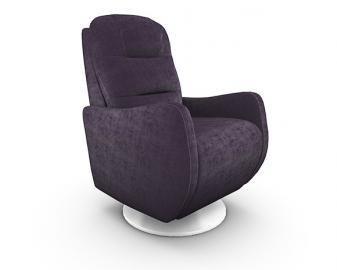 Fauteuil relaxation manuel CALIFORNIA, Revetement fauteuil: Tissu Velours, Coloris f