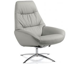 Fauteuil relaxation manuel design OSLO, Revetement fauteuil: Cuir soft, Coloris faut