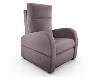 Fauteuil relaxation manuel cuir bicolore FIDJI, Coloris accoudoirs Cuir: Accoudoir c