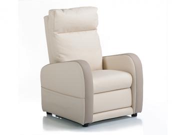 Fauteuil releveur 3 moteurs cuir bicolore FIDJI, Alimentation fauteuil: Filaire, Col