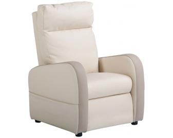 Fauteuil releveur 2 moteurs cuir bicolore FIDJI, Alimentation fauteuil: Filaire, Col