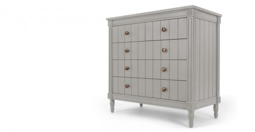 Bourbon, commode vintage, gris
