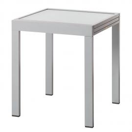 Table de jardin Iwate (extensible) - Aluminium / Verre, mooved