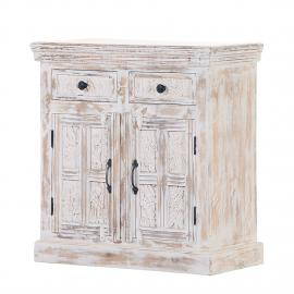 Commode Madhya II - Manguier partiellement massif Blanc, Red Living