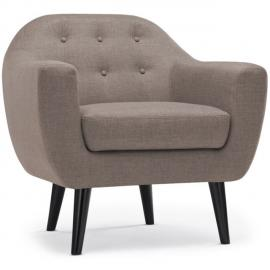NO NAME Fauteuil scandinave Fidelio Tissu Taupe