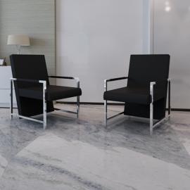 Vidaxl Table noire avec plateau en verre