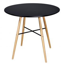 Rocambolesk Superbe Lot de 4 chaises blanches aux lignes fines avec une table en verre Neuf