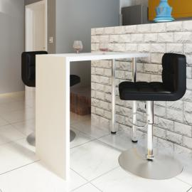 Vidaxl Set table et 4 chaises marron/blanc en bois massif
