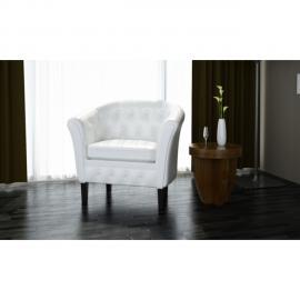 Vidaxl Ensemble de table et chaise salle à manger 3 pièces Blanc