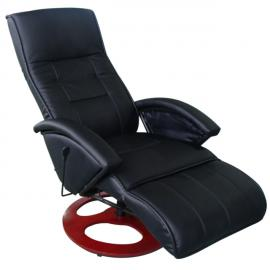 Rocambolesk Superbe Fauteuil de relaxation massant noir Neuf