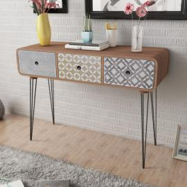 Vidaxl Table basse en bois d'acacia massif 90 x 50 40 cm