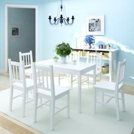 Vidaxl Ensemble à dîner cinq pièces Blanc