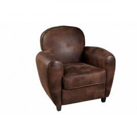 Inside 75 Fauteuil club Kate microfibre marron