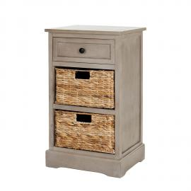 Commode Carrie - Pin massif - Taupe / Beige, Safavieh