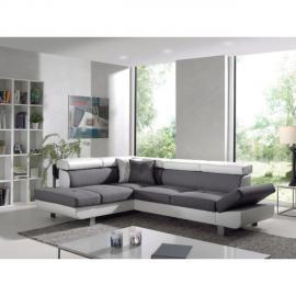 BOBOCHIC Tissu 100 % polyester - 252x190x60 - Appui-têtes et accoudoirs réglables - Pieds bois
