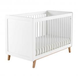 Lit bébé à barreaux blanc L126 Sweet
