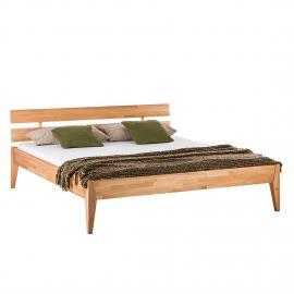 Lit en bois massif JillWOOD - 140 x 200cm - Duramen de hêtre, Ars Natura
