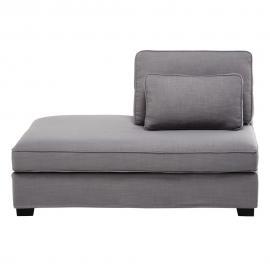 Méridienne gauche de canapé modulable gris clair Milano