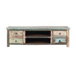 Meuble TV en bois recyclé effet vieilli L 140 cm Calanque