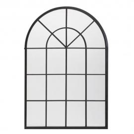 Miroir en métal noir 92x135