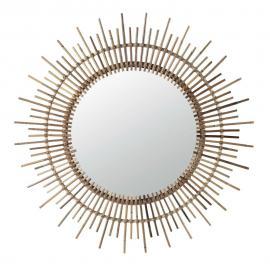 Miroir rond en rotin D 90 cm ISIS