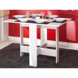 Table à manger pliante en bois 3 positions ASTUCEA Blanc