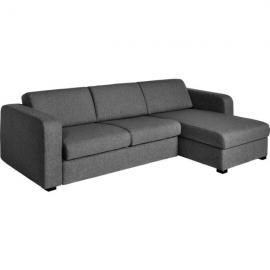 Porto 3 Canapé-lit 2 places en tissu avec angle réversible et rangement